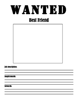 Best Friend Wanted Poster