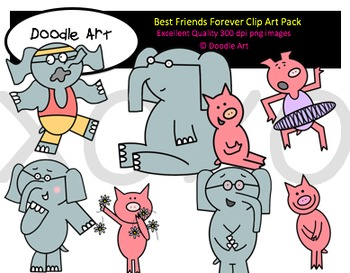 Best Friends Forever Clipart Pack