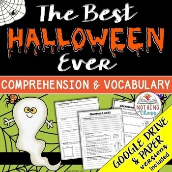The Best Halloween Ever: Comprehension and Vocabulary by chapter