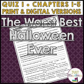 The Best Halloween Ever Quiz 1 (Ch. 1-5)