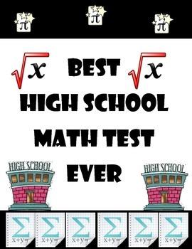 High School Math Test