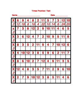 Best Multiplication Practice Numbers 1-12