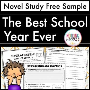 The Best School Year Ever Novel Study Unit: FREE Sample