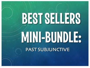 Best Sellers: Spanish Past Subjunctive
