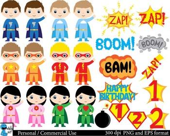 Best Superheros Digital Clip Art Graphics - 55 images cod150