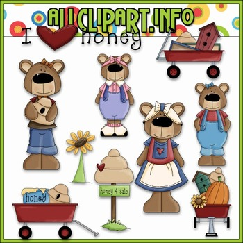 Betsy Honey Bears Clip Art - Alice Smith Clip Art