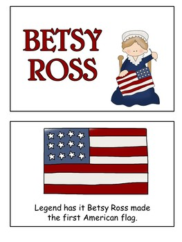Betsy Ross Flip Book  January1st  for early readers