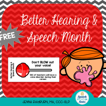 BHSM Better Hearing and Speech Month: Blow Pop tags for Teachers