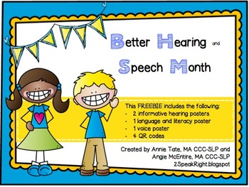 Better Hearing and Speech Month Poster FREEBIE!