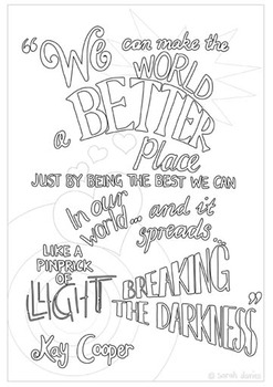 Better Place Colouring Poster