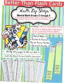 Better Than Flash Cards Zip Strip Math Grades 5 - 7 with A