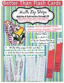 Better Than Flash Cards Zip Strip Math K - 1 - 2 With Asse