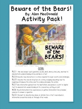 Beware Of Bears Activity Pack (By: Alan MacDonald)