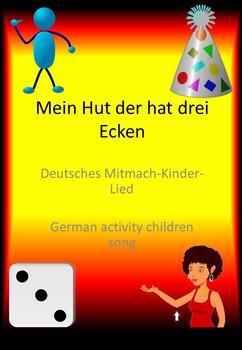 """Bewegungslied """"Mein Hut der hat drei Ecken"""" / German child"""