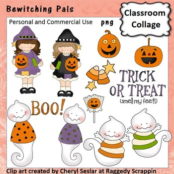 Bewitching Pals clip art - personal & comm use witches jac
