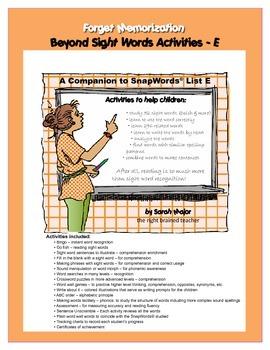 Beyond Sight Words Activities E