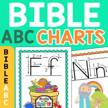Bible Alphabet Charts & Flashcards