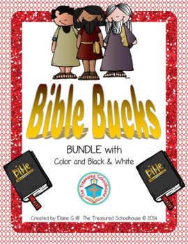 Bible Bucks BUNDLE with Color and Black & White - Religiou