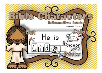 Bible Characters cut and paste book