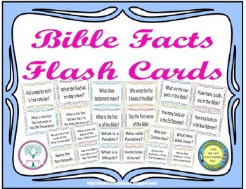 Bible Facts Flash Cards Freebie
