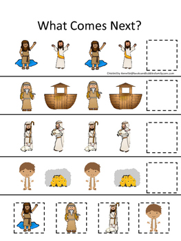 Bible Friends What Comes Next Printable Christian Game. Pr