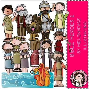Melonheadz: Bible Heroes clip art Part 2 - COMBO PACK