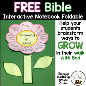 Bible Interactive Notebook Foldable: Growing in God (FREE!)
