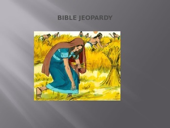 Bible Jeopardy Game-Ruth