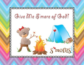 Bible Lesson Task Cards - Give me S'more of God!