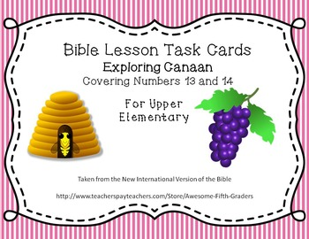 Bible Lesson Task Cards for Upper Elementary - Exploring Canaan