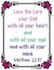 Bible Verse Memory Book and Poster! Matthew 22:37