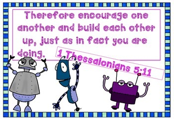 Bible Memory Verse - 1 Thessalonians 5:11 Activities and Poster