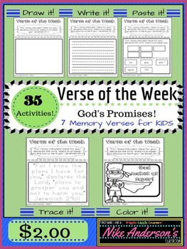 Bible Memory Verse Activities for KIDS-God's Promises