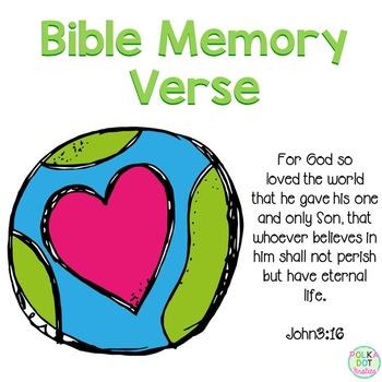 Bible Memory Verse {John 3:16}