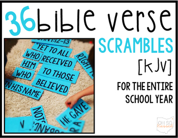 Bible Memory Verse Scrambles [for the entire school year!]