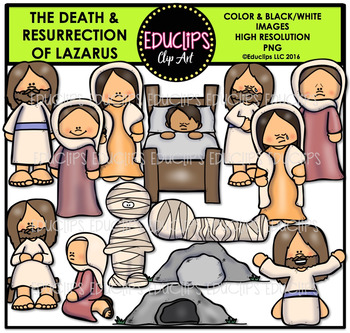 Bible Stories - Death & Resurrection Of Lazarus Clip Art B