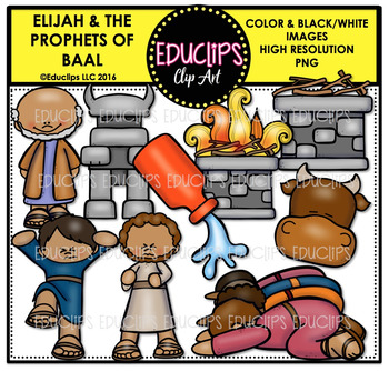 Bible Stories - Elijah & The Prophets of Baal Clip Art Bun