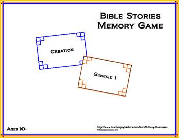 Bible Stories Memory Game