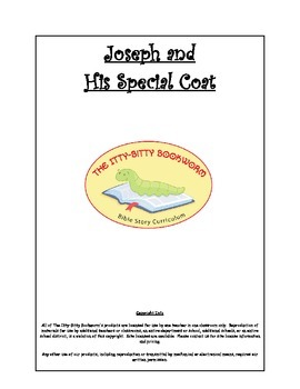Bible Story Mini-Unit:  Joseph and His Special Coat