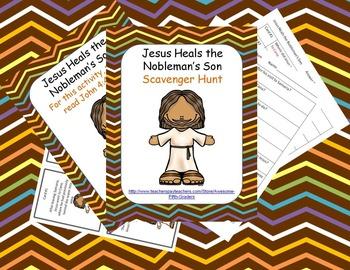 Bible Story Scavenger Hunt - Jesus Heals the Nobleman's Son