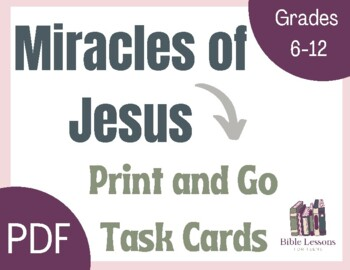 Bible Task Cards: Miracles of Jesus