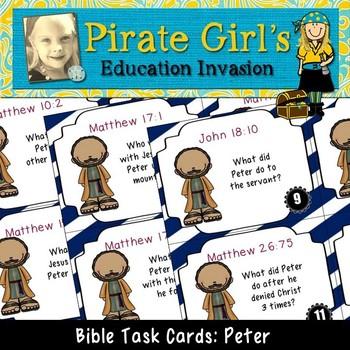 Bible Task Cards: Peter