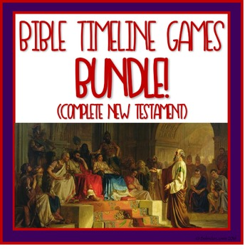 Bible Timeline Games and Three Part Cards Complete New Tes