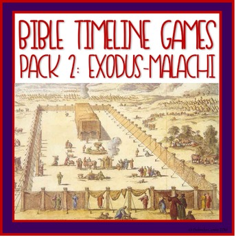 Bible Timeline Games and Three Part Cards Pack 2
