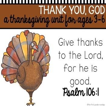 Bible Unit: I Am Thankful