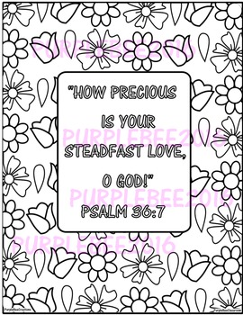 Bible Verse Coloring Page Psalm 36:7