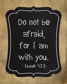 Isaiah 43:5 Bible Verse Poster