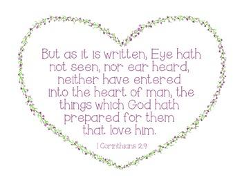 Bible Verse Poster Print Sunday School 1 Corinthians 2:9 P