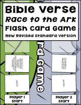 Bible Verse Race to the Ark Flash Card Game