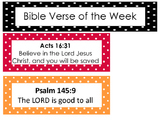 Bible Verse of the Week Bulletin Board Set. Preschool-Kind